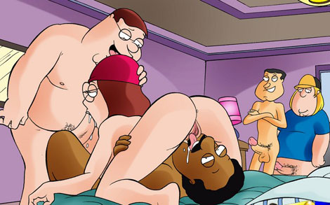 Meg and Lois in toon sex action