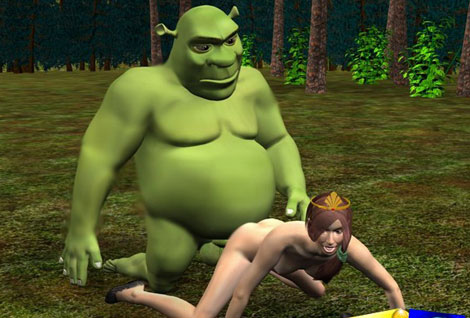 Shrek penetrating Princess Fiona
